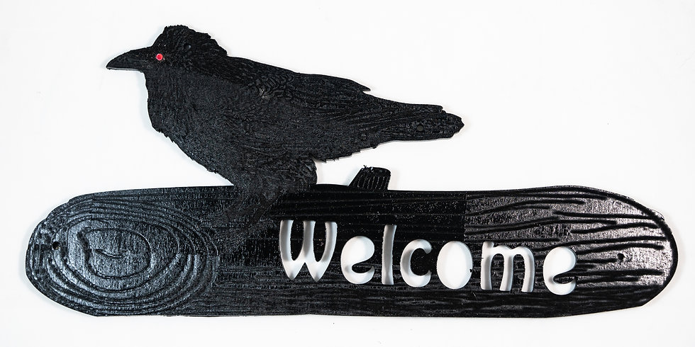 Raven Welcome Sign