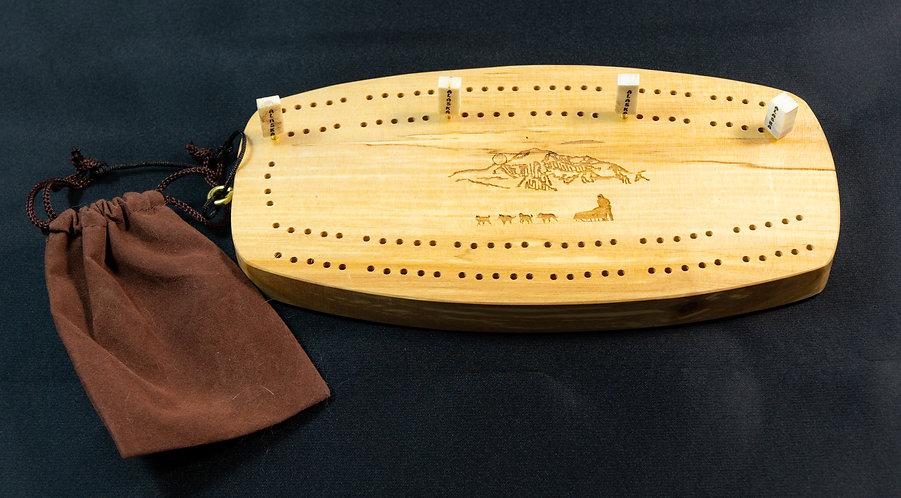 "8"" Cribbage Board - Birch"