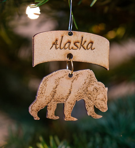 Christmas Ornament - Grizzly Bear