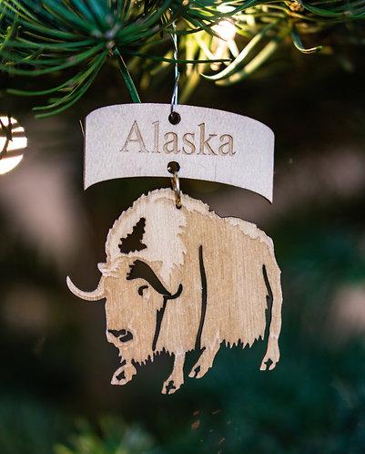 Christmas Ornament - Musk Ox