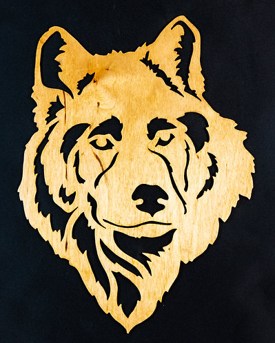 Wolf Head Cut Out