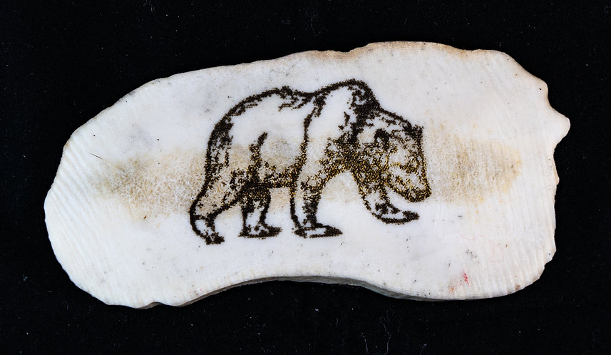 Walking Grizzly Antler Magnet