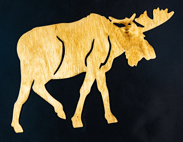 Walking Moose Cut Out