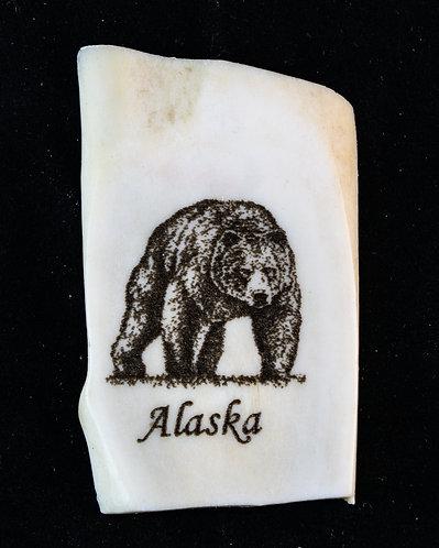 Alaska - Grizzly Antler Magnet