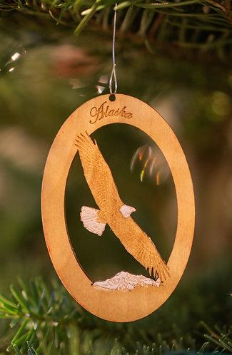 Christmas Ornament - Soaring Bald Eagle
