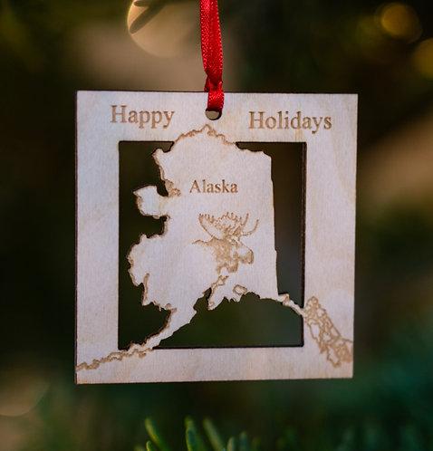Christmas Ornament - State of Alaska