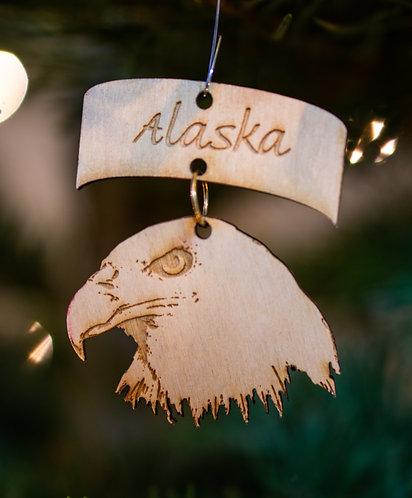 Christmas Ornament - Bald Eagle Head