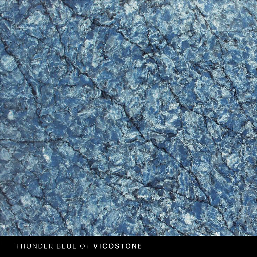 кварцевый агломерат VicoStone BQ 8786 Thunder Blue фото