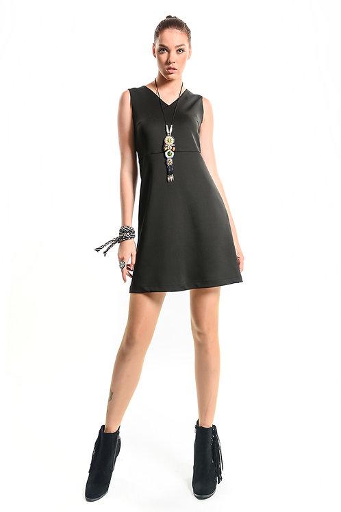 Otantik Buğu Kolsuz Elbise - 9960 Siyah