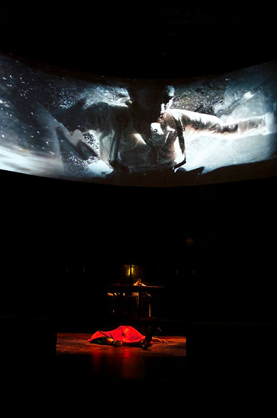 Video Projections by Joan Grossman for the play, Woyzeck.