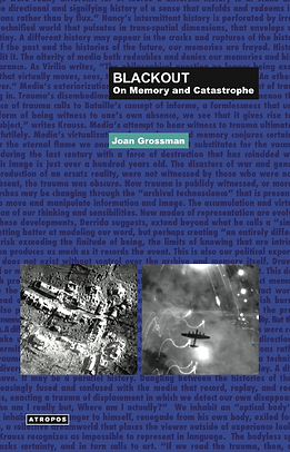 Blackout: On Memory and Catastrophe, written by Joan Grossman and published by Atropos Press.