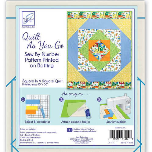 QAYG Lap Quilt - Square In A Square