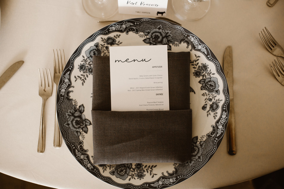 Table Menu- Navy