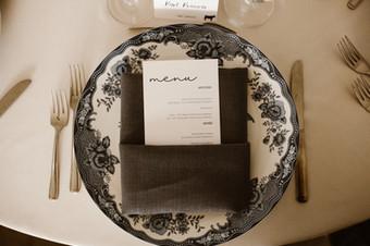 Table Menu- Navy