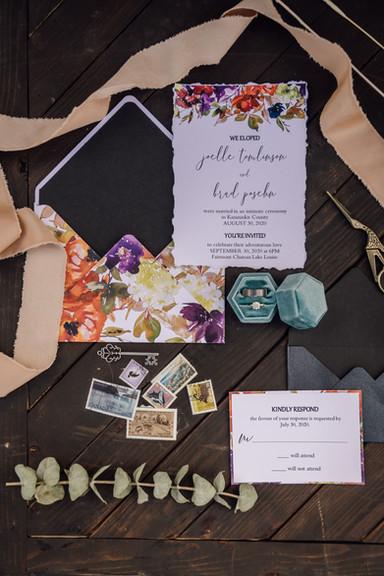 Vibrant Floral Invite Suite