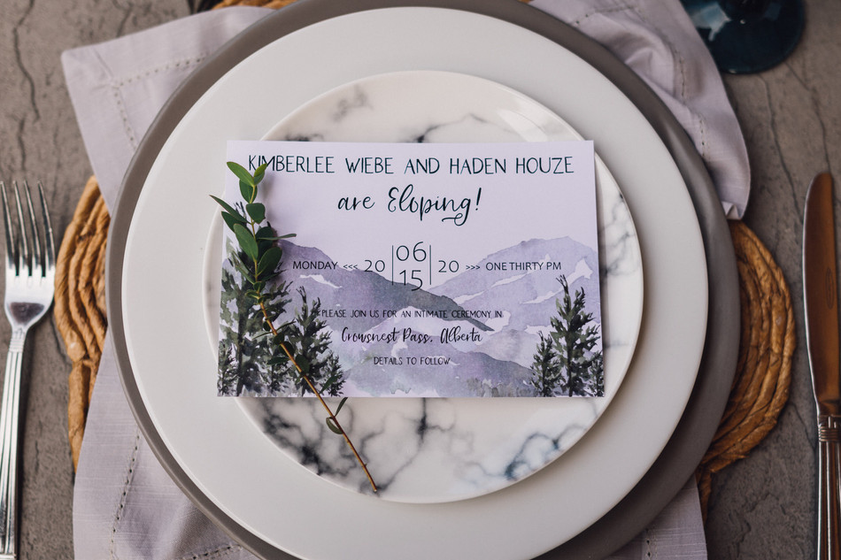 Mountain Elopement Invitation