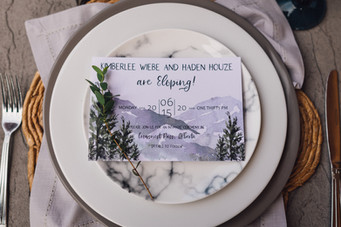 Mountain Elopement Invitation