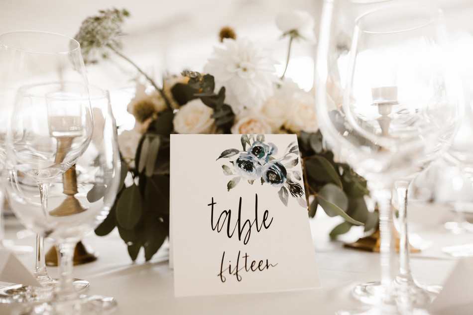 Tent Table Numbers- Navy