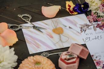 Hand painted envelope sleeve