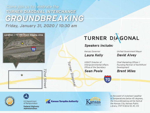 Turner Diagonal Interchange Project Groundbreaking Ceremony Scheduled for January 31