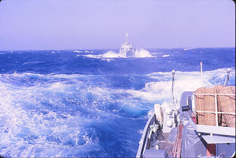 HMAS Teal, Force 8 gale, Bay of Biscay,