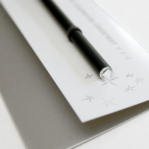 Raumgestalt - Stift für strahlende Gedanken mit Swarowski-Kristall