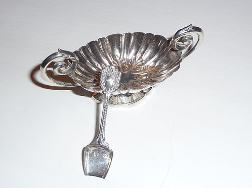 Silber - Saliere mit Löffel