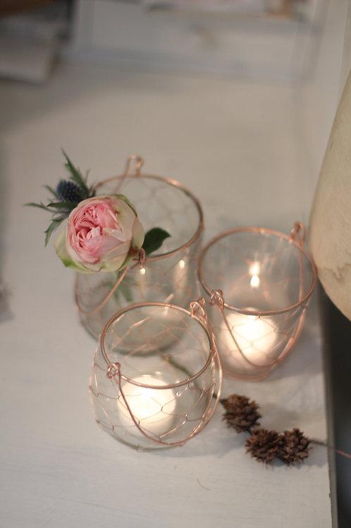 Villa Landleben - Teelichtglas mit Draht