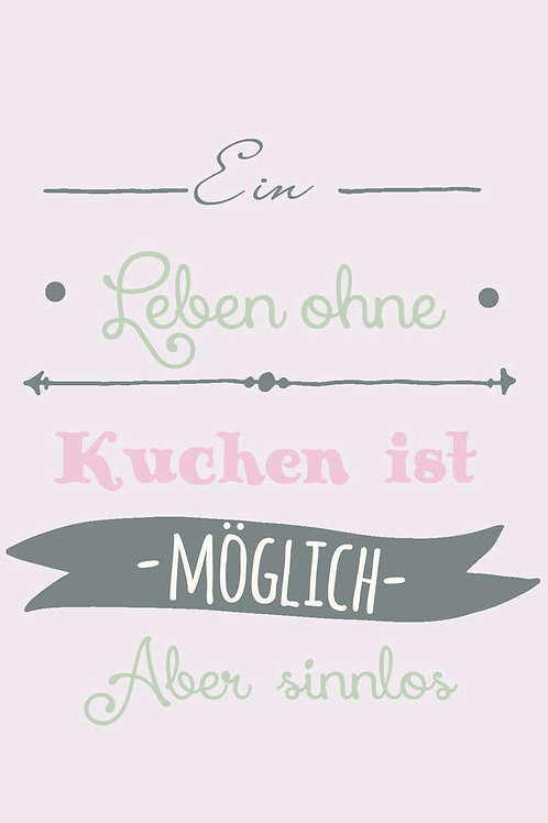 "Villa Landleben - Postkarte ""Ein Leben ohne Kuchen ..."""