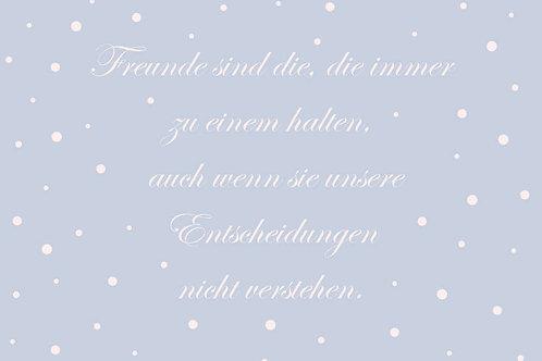 """Villa Landleben - Postkarte """"Freunde sind die, ..."""""""