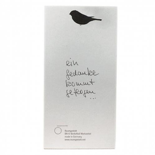 Raumgestalt - BirdNail Merkzettel Notizblock