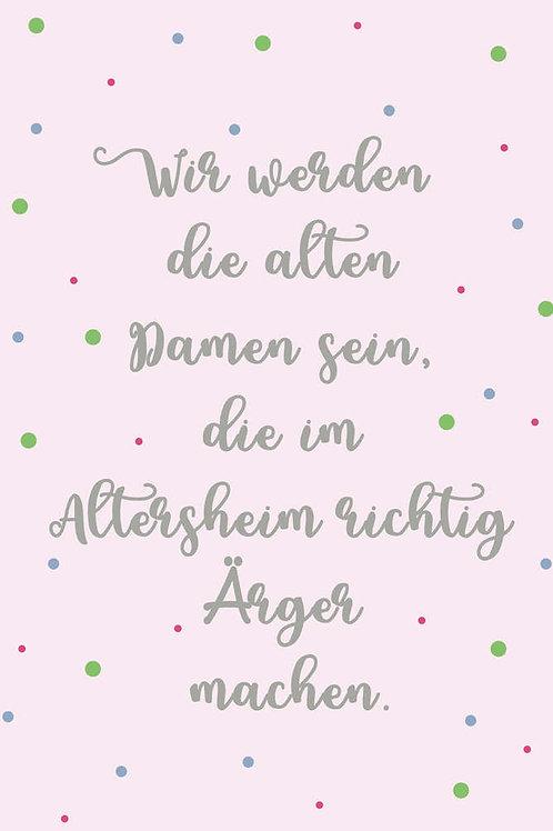 "Villa Landleben - Postkarte ""Alte Damen"""