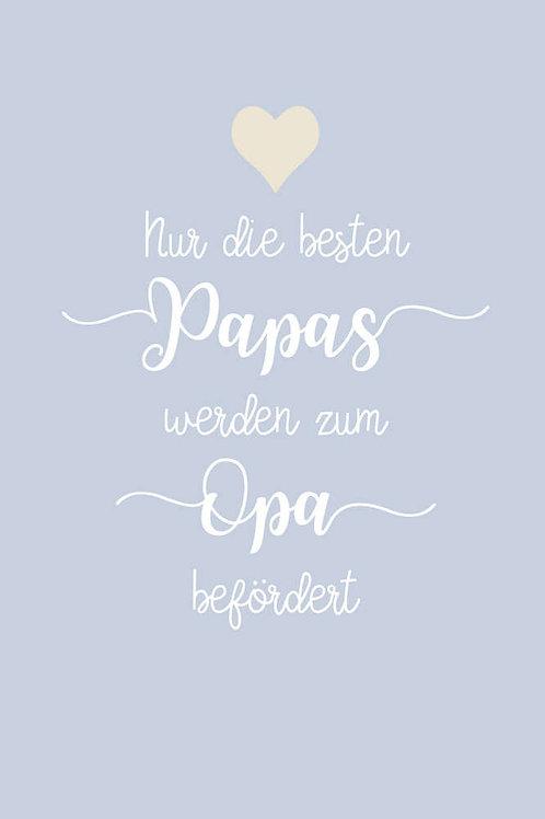 """Villa Landleben - Postkarte """"Nur die besten Papas, ..."""""""