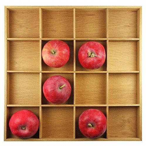 Raumgestalt Apfelkasten/Tablett aus Eiche hell