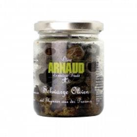 Arnauld - Schwarze Oliven mit Thymian der Provence 150 g