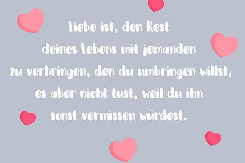 "Villa Landleben - Postkarte ""Liebe ist, ..."""