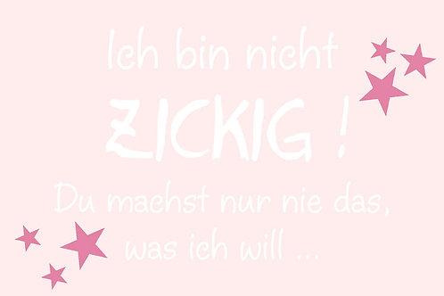 """Villa Landleben - Postkarte """"Ich bin nicht zickig! ..."""""""