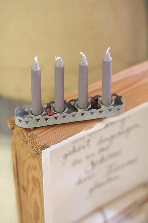 Villa Landleben - Zinktablett für 4 Kerzen