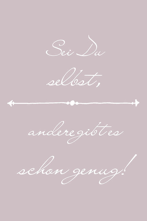 "Villa Landleben - Postkarte ""Sei du selbst, ..."""