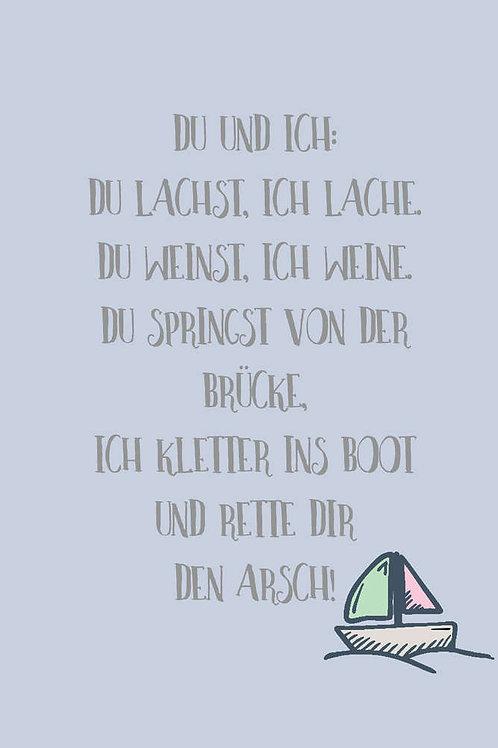 """Villa Landleben - Postkarte """"Du und ich ..."""""""