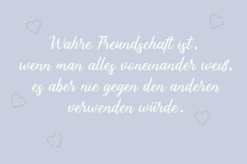 """Villa Landleben - Postkarte """"Wahre Freundschaft ..."""""""