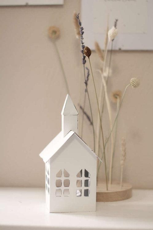 Villa Landleben - weiße Kirche 10 x 9,5 x 20 cm
