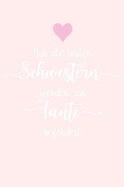 """Villa Landleben - Postkarte """"Nur die besten Schwestern werden ..."""""""