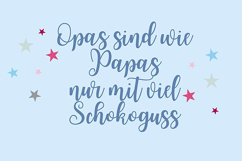 "Villa Landleben - Postkarte ""Opas sind wie ..."""