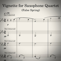 Vignette for Saxophone Quartet