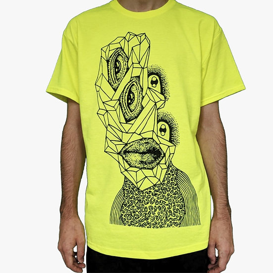 Crystal Face Neon T-Shirt