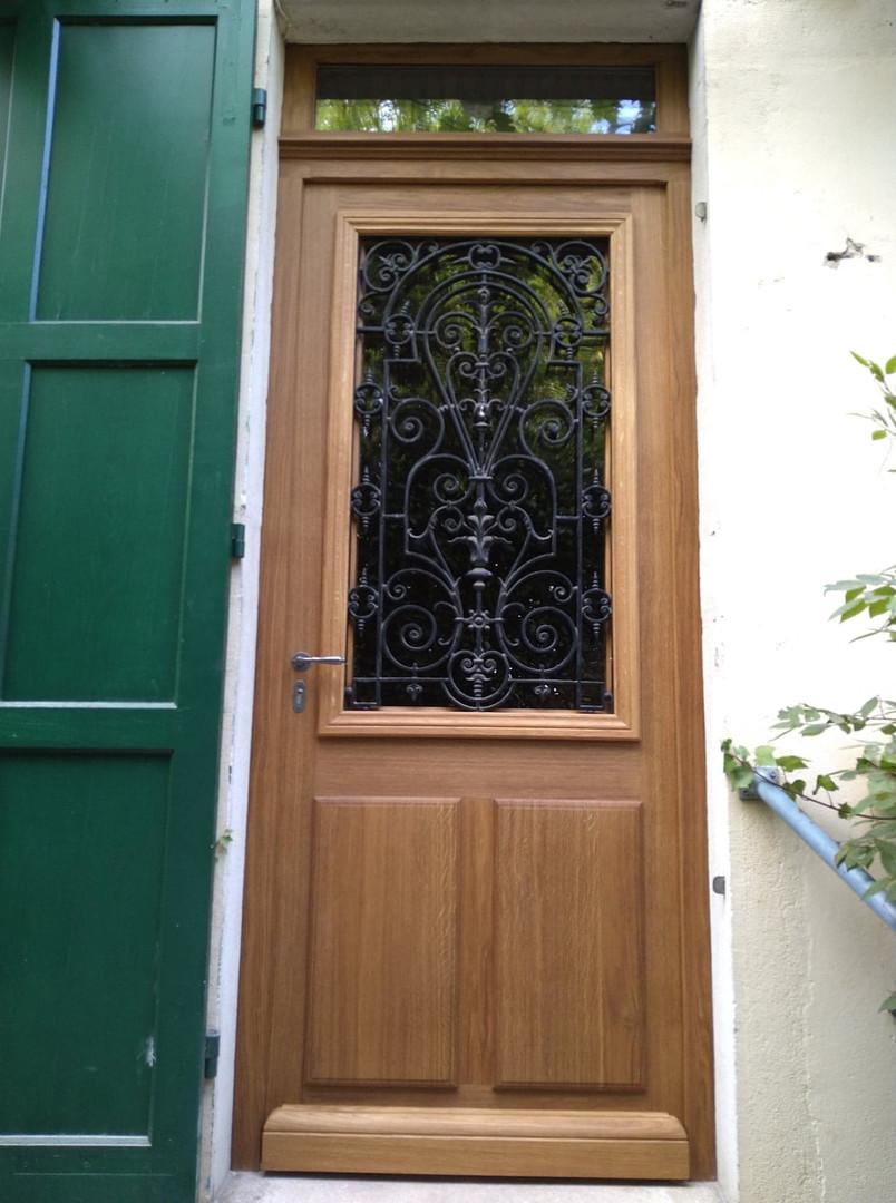 Porte d'entrée chêne