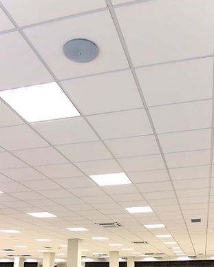 Modern design white office ceiling with