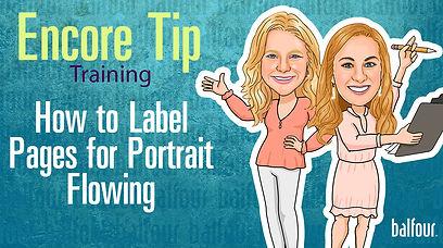 Encore_Labeling Pages for Portrait Flowi