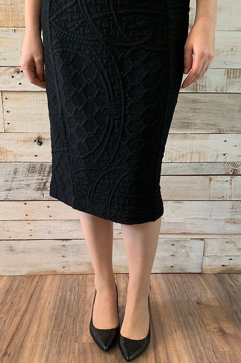 Embossed in Black Skirt